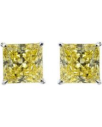 Carat* - Yellow 1ct Princess Solitaire Stud Earrings - Lyst