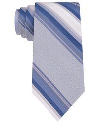 Calvin Klein - Blue Havana Stripe Slim Tie for Men - Lyst