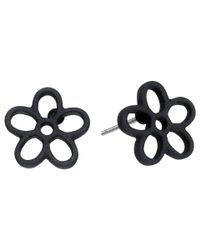 Marc By Marc Jacobs | Black Rubberized Daisy Studs Earrings | Lyst