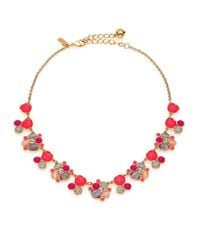 kate spade new york - Metallic Bashful Blossom Cluster Necklace - Lyst