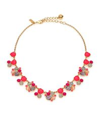 kate spade new york | Metallic Bashful Blossom Cluster Necklace | Lyst