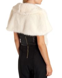 Ted Baker | White Faux Fur Cape | Lyst