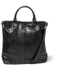 Balenciaga | Black Creased-Leather Tote Bag for Men | Lyst
