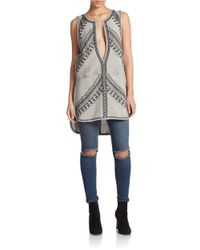 Free People | Gray Say It Aint So Tunic | Lyst