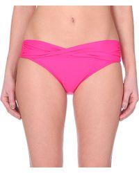 Seafolly | Purple Goddess Pleated Bikini Briefs - For Women | Lyst