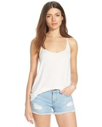 Betro Simone | White Mixed Media Racerback Tank | Lyst