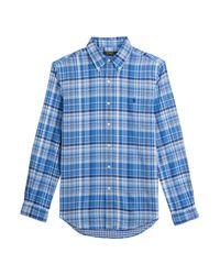Polo Ralph Lauren | Plaid Cotton Shirt - Blue for Men | Lyst