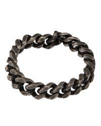 Werkstatt:münchen - Black Curb Chain Bracelet for Men - Lyst