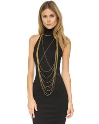 Chan Luu | Metallic Draping Body Chain - Gold | Lyst