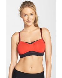 Moving Comfort Red 'fineform' Sports Bra