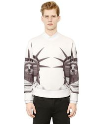 Neil Barrett - White Statue Of Liberty Neoprene Sweatshirt for Men - Lyst