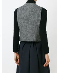 Burberry - Gray Wool Buttoned Waistcoat - Lyst