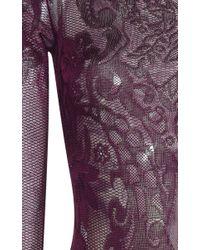 Zuhair Murad - Purple Lace Knit Bodysuit - Lyst