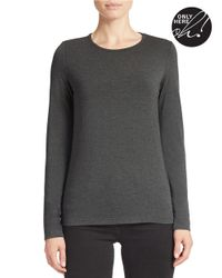 Lord & Taylor | Gray Crewneck Tee | Lyst