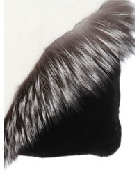 Elena Ghisellini - Multicolor Liu Fox & Rex Rabbit Fur Pouch - Lyst