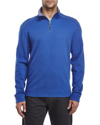 English Laundry | Blue Reversible Quarter-Zip Top for Men | Lyst