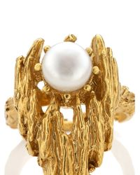 Alighieri | Metallic Gold Pearl La Calliope Ring | Lyst