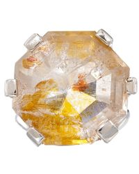 Stephen Dweck - Metallic Silver Pyrite and Quartz Ring - Lyst