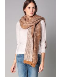 Pieces - Brown Scarf - Lyst