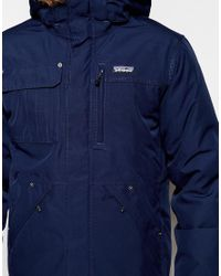 Patagonia | Blue Wanaka Down Parka for Men | Lyst