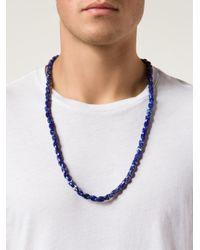 Joseph Brooks | Blue Beaded Necklace for Men | Lyst