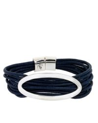 Kenneth Cole | Blue Multi-row Cord Bracelet | Lyst