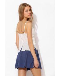 Kimchi Blue - Blue Knit Snapfront Skater Skirt - Lyst