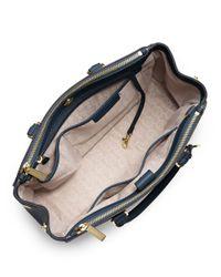 MICHAEL Michael Kors | Blue Sutton Saffiano Leather Large Satchel | Lyst