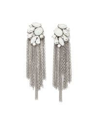Forever 21 | Metallic Faux Stone Duster Earrings | Lyst