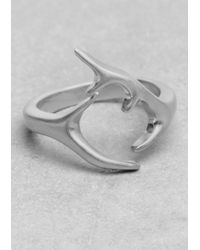 & Other Stories - Metallic Horn Ring - Lyst