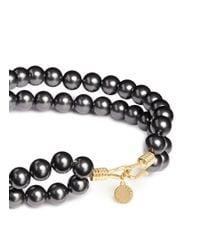Stella McCartney - Black Swarovski Pearl Wire Necklace - Lyst