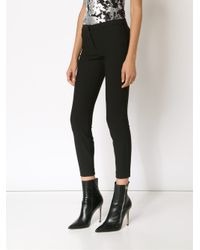 Elizabeth and James - Black Cropped Stretch Trousers - Lyst