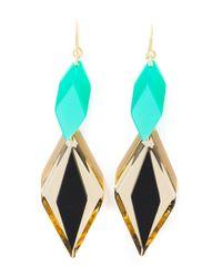 Silvia Rossi | Green 'ace' Earrings | Lyst