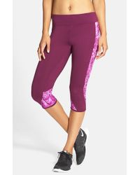 Hurley | Purple Dri-fit Crop Leggings | Lyst