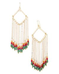 Panacea | Pink Beaded Pendant Earrings | Lyst