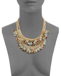 Saks Fifth Avenue - Metallic Layered Bead Cluster Necklace - Lyst