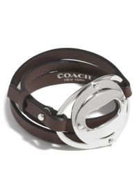 COACH | Metallic Layered Oval Triple Wrap Bracelet | Lyst