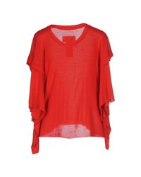 MM6 by Maison Martin Margiela - Red Jumper - Lyst