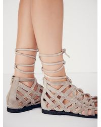 Free People | Natural Great Lengths Sandal | Lyst