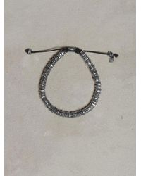 John Varvatos | Metallic Oxidized Bead Bracelet for Men | Lyst