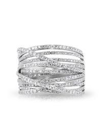 Anne Sisteron - Metallic 14kt White Gold Diamond Wire Ring - Lyst