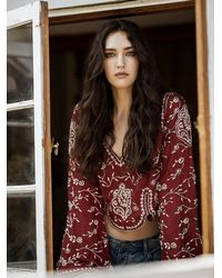 Free People | Embroidered Folk Festival Top | Lyst