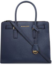 MICHAEL Michael Kors | Blue Dillon Large Saffiano Leather Tote | Lyst