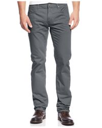 INC International Concepts - Gray Jake Slim-Straight Chino Pants for Men - Lyst