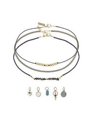 TOPSHOP - Blue Choker Pack With Charms - Lyst