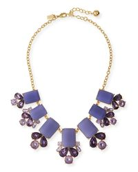 kate spade new york | Purple Glitzy Spritz Statement Necklace | Lyst