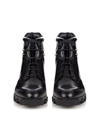 Balenciaga - Black Ice Trekker Leather Boots for Men - Lyst