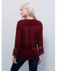 Free People | Purple Embellished Mia Wrap Top | Lyst