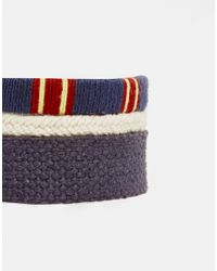 ASOS | Bracelet Pack In Blue And Red for Men | Lyst