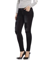 d998404d706 Lyst - Flying Monkey Black Destroyed Denim Skinny Jeans in Black